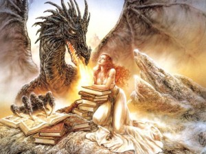 Dragon Lady and Books