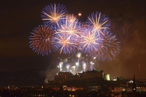 Fireworks over Edinburgh Castle, Scotland