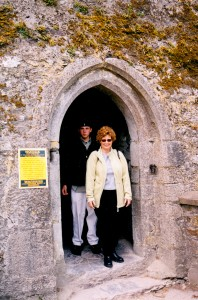 My son and I emerging from Blarney Castle.